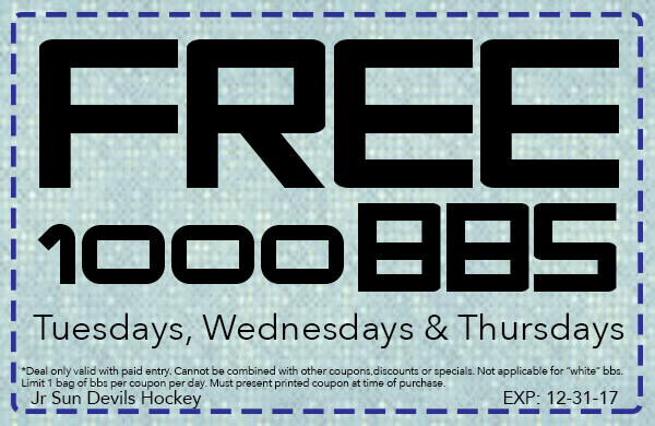 Free Weekday BBs Coupon - Hockey-Exp123117