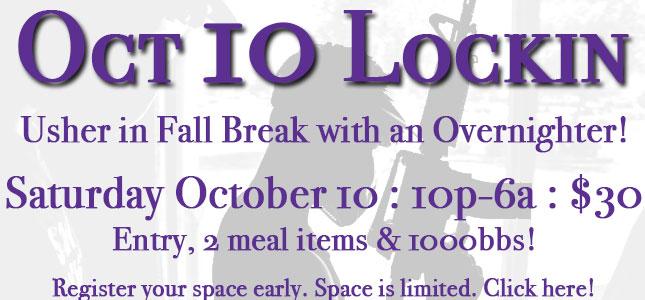 October 10 Lockin