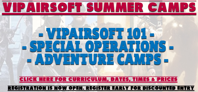 2016 VIPAirsoft Summer Camp Programs